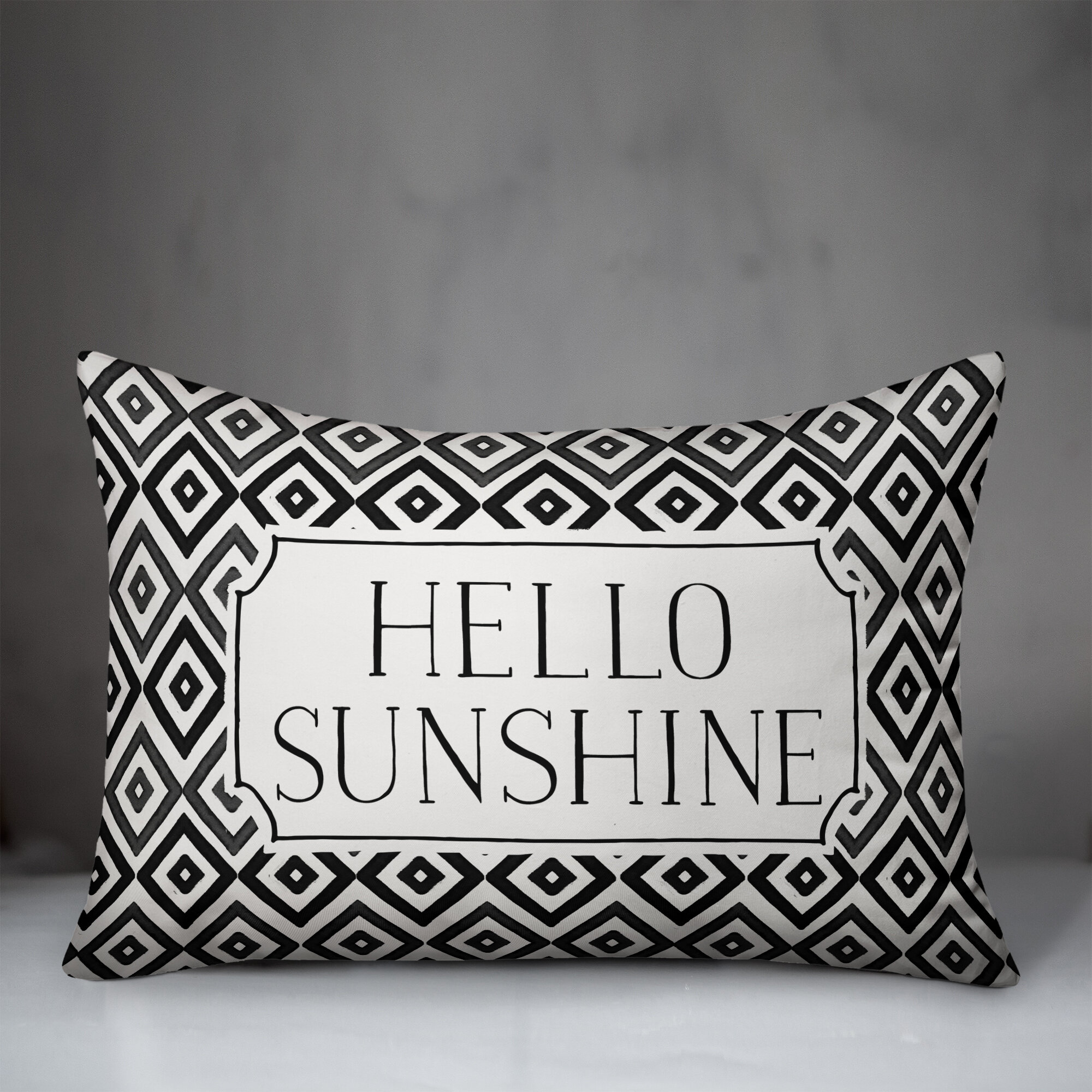 George Oliver Adalyn Hello Sunshine Diamonds Outdoor Rectangular Pillow Cover And Insert Wayfair