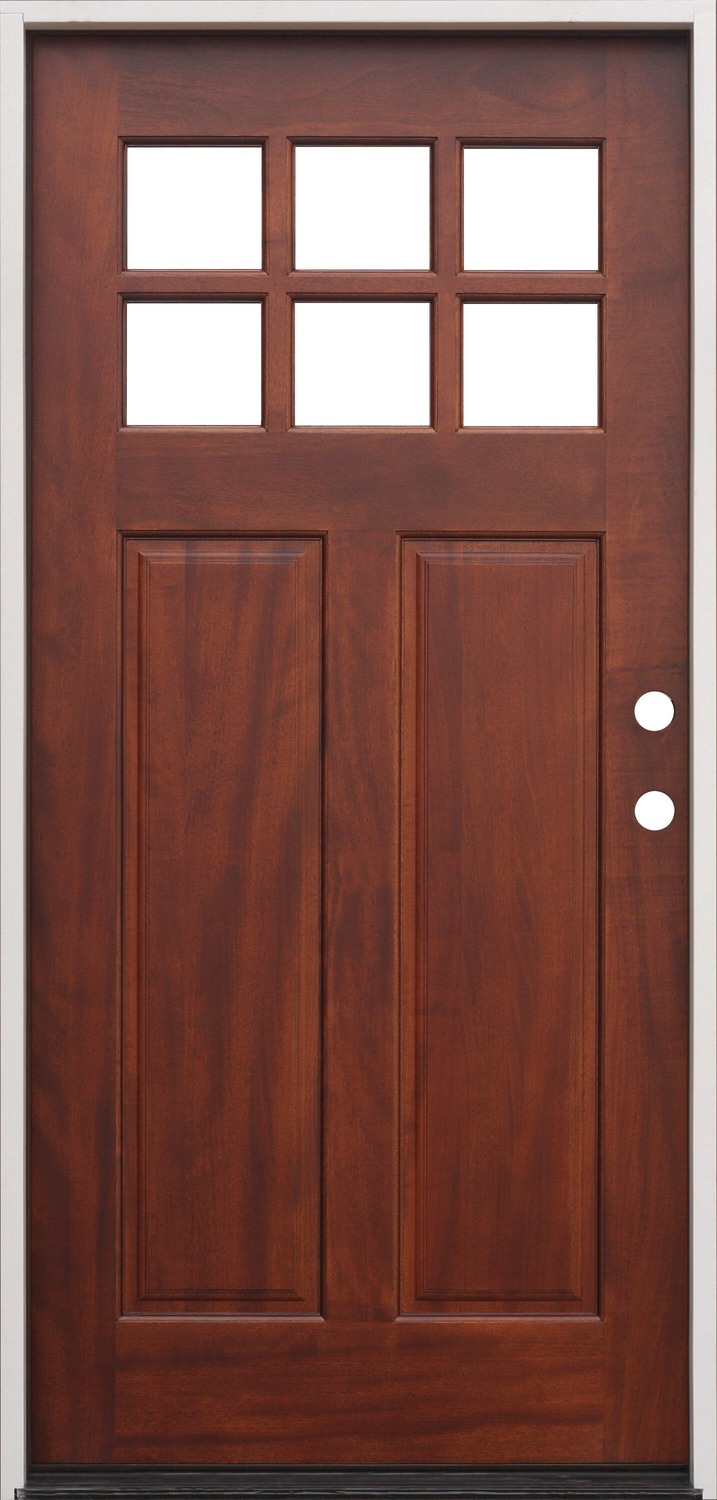 Creativeentryways Shaker Craftsman 6 Lite Ready To Install Wood