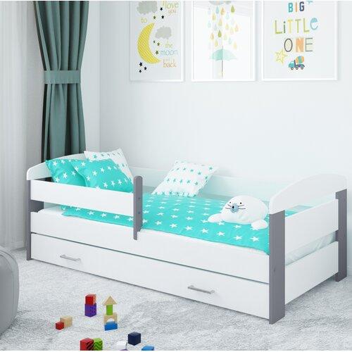Funktionsbett Alice mit Schublade und Matratze   Schlafzimmer > Betten > Funktionsbetten   Alder   Holz - Mdf   Möbel Concept