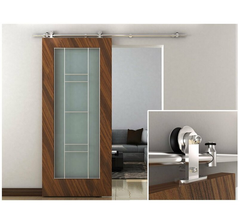 Tms Modern Stainless Steel Interior Sliding Barn Door Hardware Wayfair