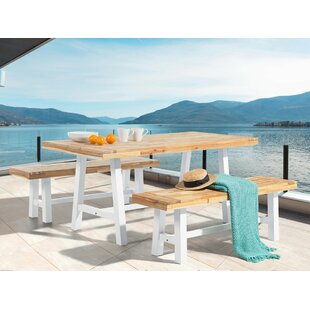 Nelsen 3 Piece Solid Wood Dining Set Gracie Oaks