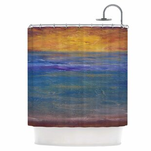 Sky on Fire Single Shower Curtain