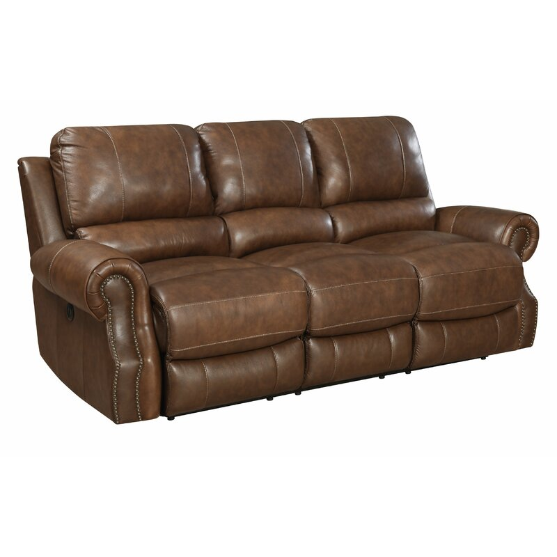 Crete Leather Reclining Sofa
