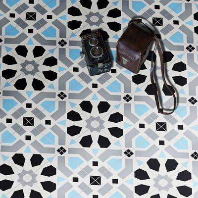 "Azilal Handmade 8"" x 8"" Cement Field Tile Moroccan Mosaic"