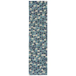 Hunsaker Pebbles Hand-Woven Blue Indoor/Outdoor Area Rug