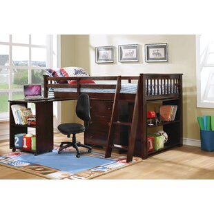 Washburn Twin Low Loft Bed with Drawers and Shelf by Harriet Bee