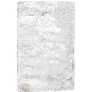 Buy Crystal Solid White Rug By Noble House
