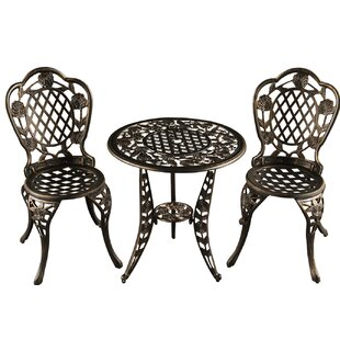 Rockhampton Rose Ornate Traditional 3 Piece Bistro Set