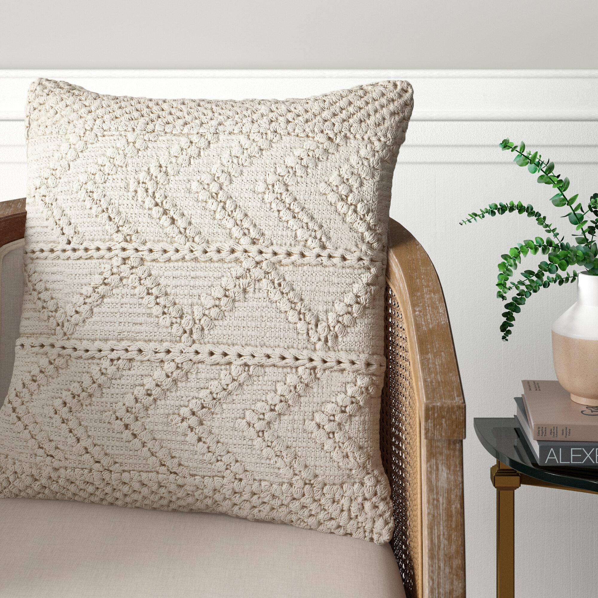 Statler Textured Cotton Throw Pillow Cover Reviews Joss Main