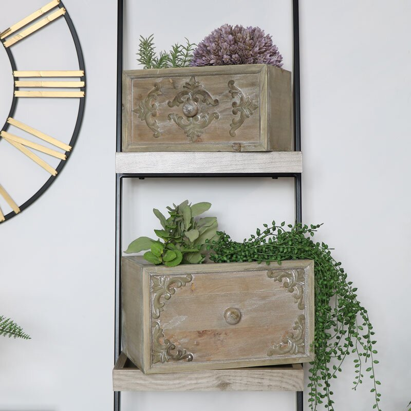 Castrejon 2 Piece Wood Planter Box Set