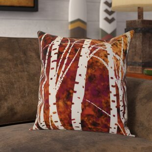 Brookfield Birch Trees Floral Throw Pillow