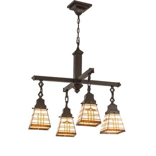Meyda Tiffany Arrowhead Mission 4-Light Shaded Chandelier