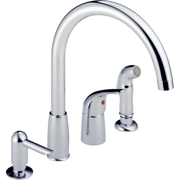 Single Handle Kitchen Faucet with Soap Dispenser