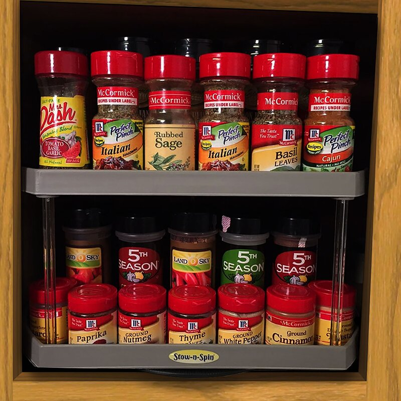 Lazy Susan Spice Rack Interesting Simple Solutions StownSpin TwoTier Turntable Lazy Susan Spice