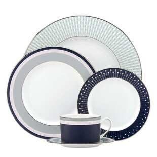 Mercer Drive Bone China 5 Piece Place Setting, Service for 1