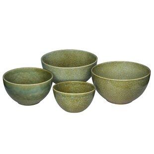 Ferncliff 4 Piece Stoneware Mixing Bowl Set