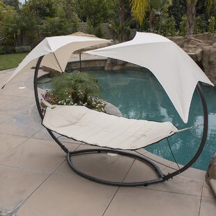 Natashia Sunroof Dual Hammock with Stand by Bayou Breeze