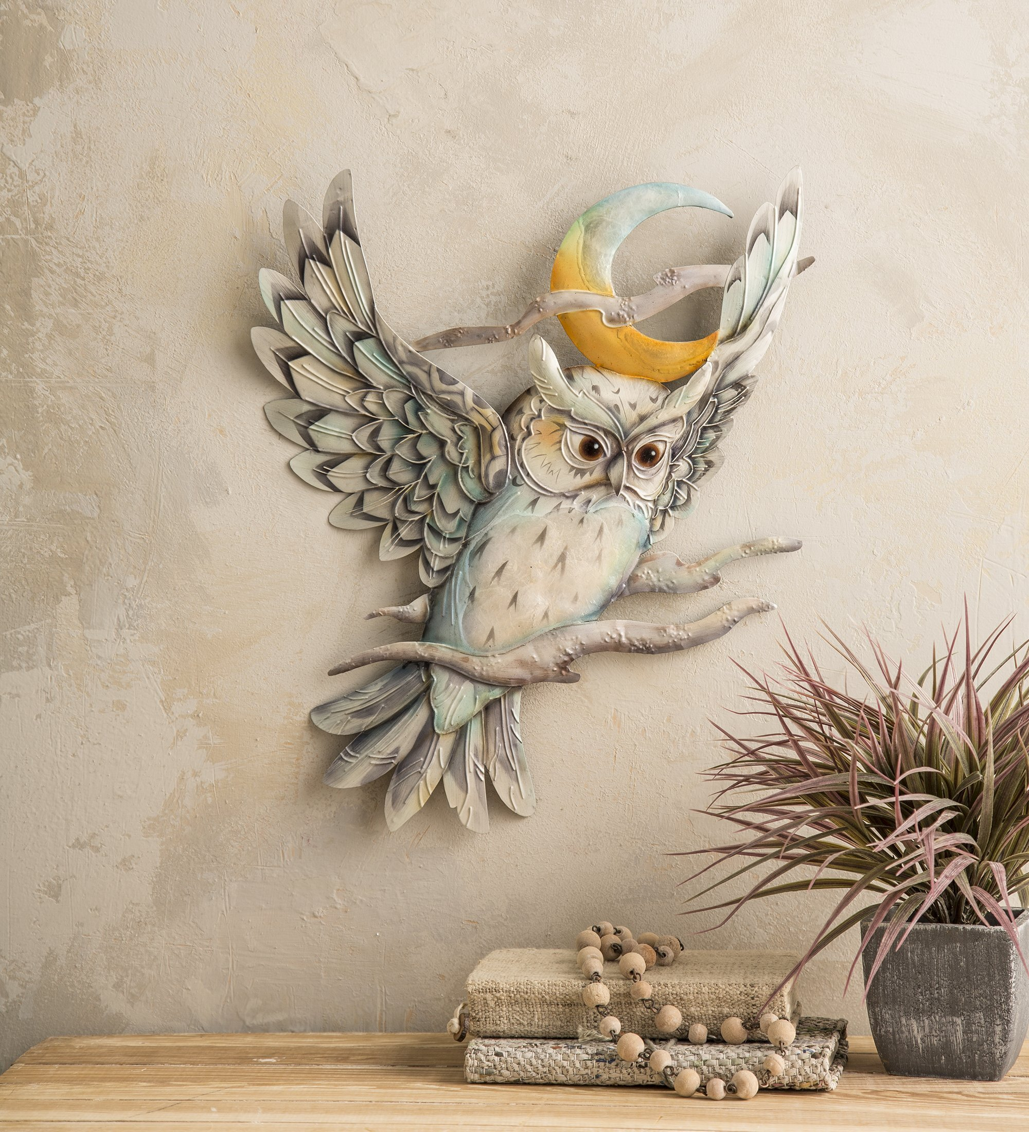 Wind Weather Metal Owl And Moon Wall Décor Wayfair