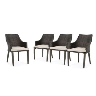 Beaumys Patio Dining Chair with Cushions (Set of 4)