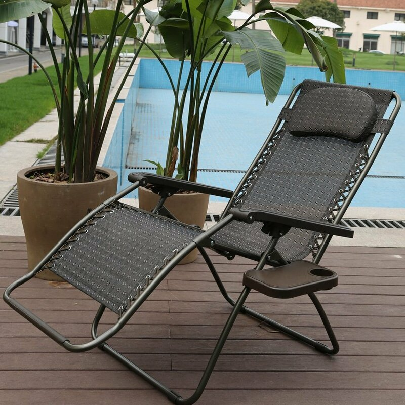 Reclining Folding Zero Gravity Chair with Cushion - Abba Patio Reclining Folding Zero Gravity Chair With Cushion Wayfair