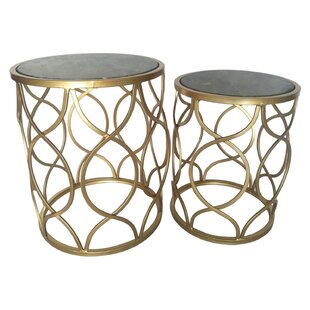 Lanning 2 Piece Marble Top End Table