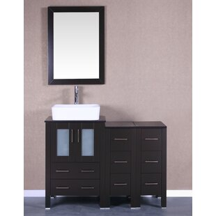 Kinchen 48 Single Bathroom Vanity Set with Mirror by Bosconi