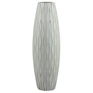 Weathered Wood Vase by Beachcrest Home Spacial Price