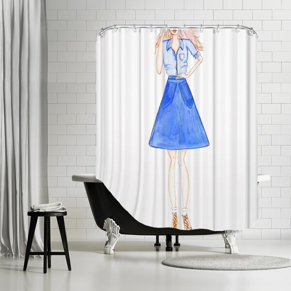 Blue Denim Shower Curtain | Wayfair