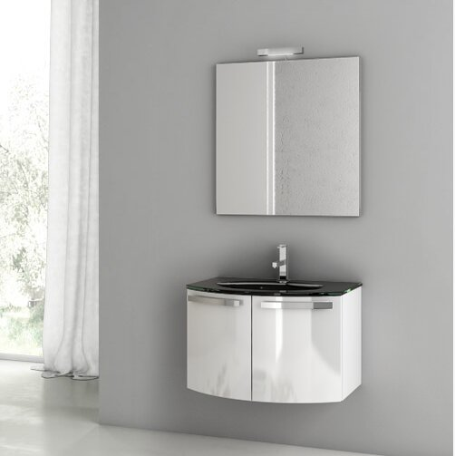Acf Crystal Dance 28 Single Bathroom Vanity Set With Mirror Wayfair