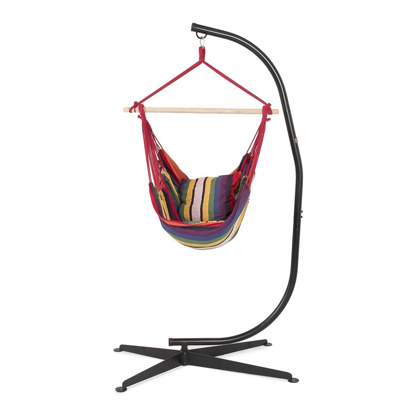 Belleze Cotton Chair Hammock With Stand Reviews Wayfair Ca