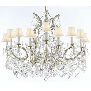 Alvarado 16-Light Crystal Chandelier by Astoria Grand
