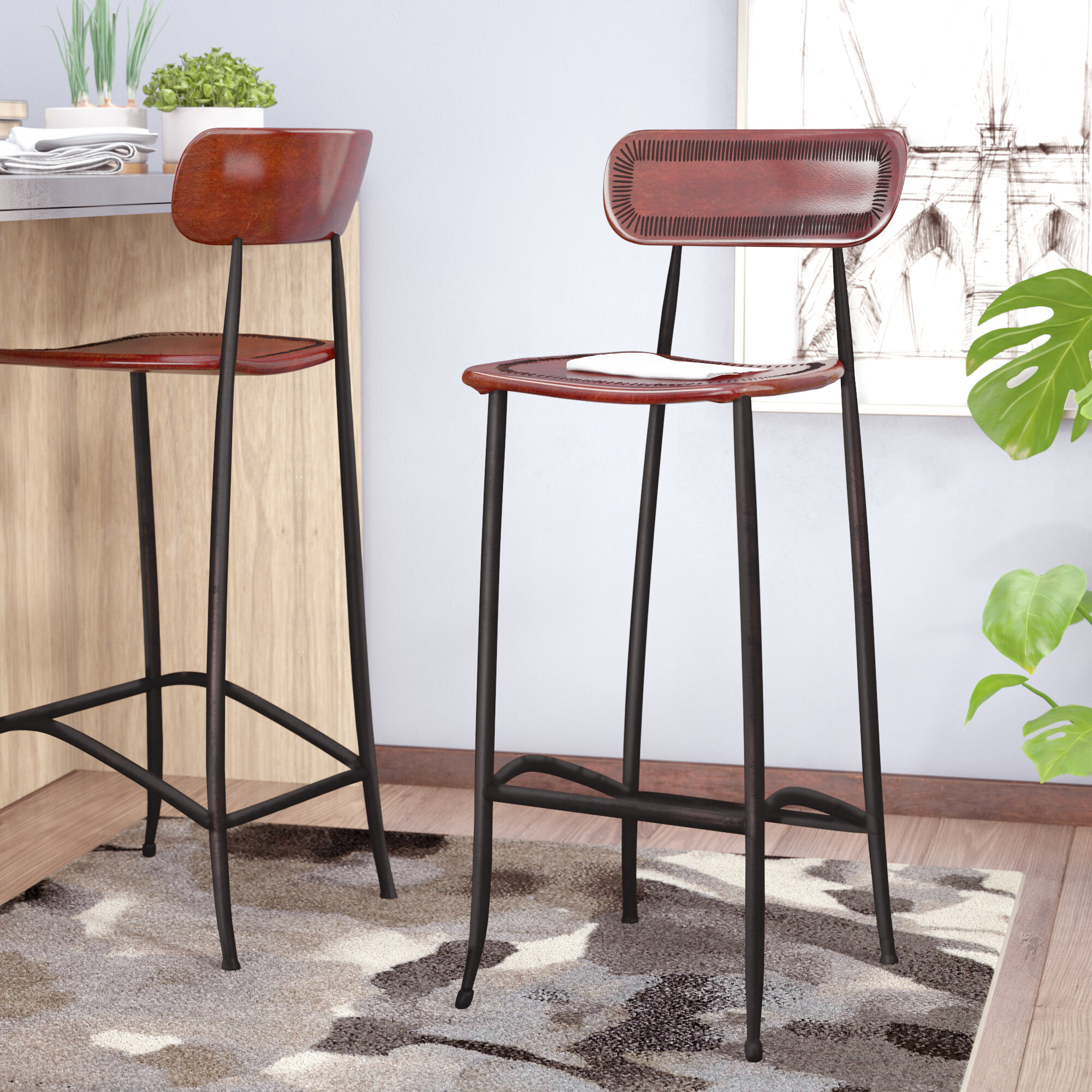 Remarkable Chamisa 30 Bar Stool Pabps2019 Chair Design Images Pabps2019Com