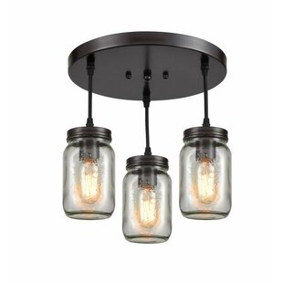 Ayres 3-Light Semi Flush Mount by Williston Forge