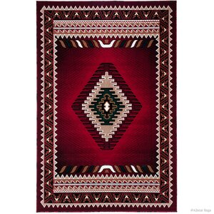 Iberide High-Quality Woven Red Area Rug