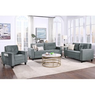 Sofa Set Morden Style Couch Furniture Upholstered Armchair, Loveseat And Three Seat For Home Or Office by nongfu garden