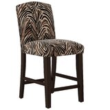 Genevie Arched Washed Zebra Bar & Counter Stool by Bloomsbury Market