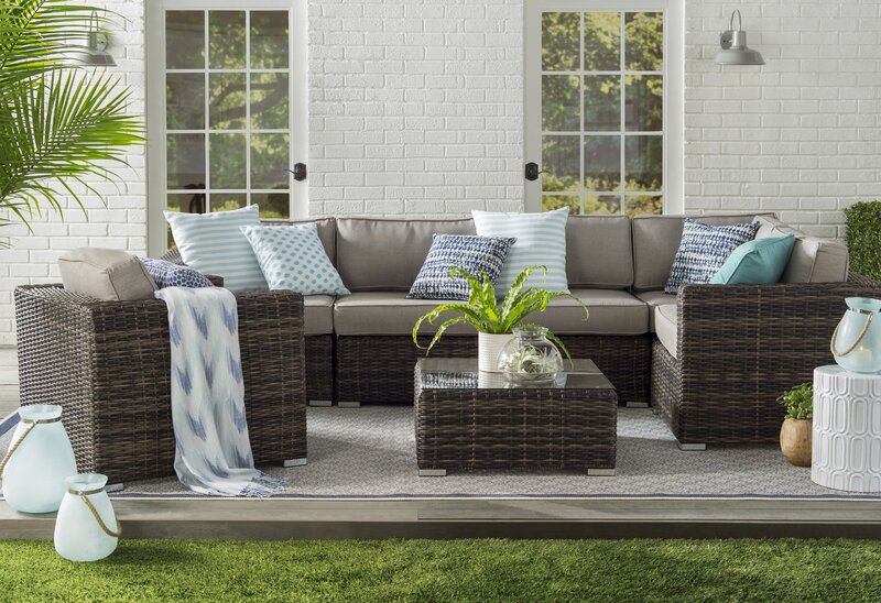 Ravenden Wicker 5 Person Seating Group Reviews Joss Main