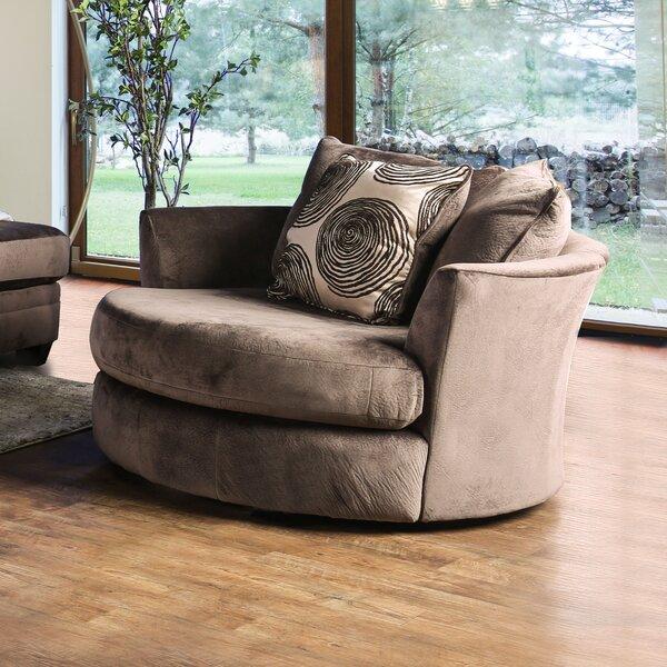 Beau Red Barrel Studio Holford Microfiber Swivel Chair And A Half | Wayfair