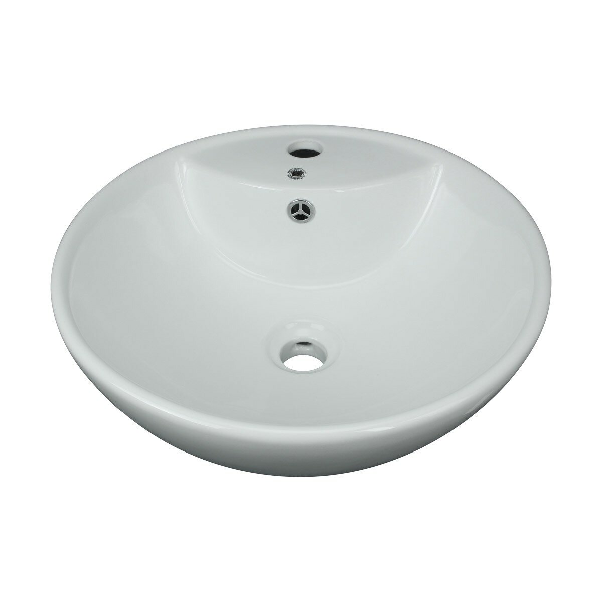 The Renovators Supply Inc Above Counter Vitreous China Circular Vessel Bathroom Sink With Overflow Wayfair