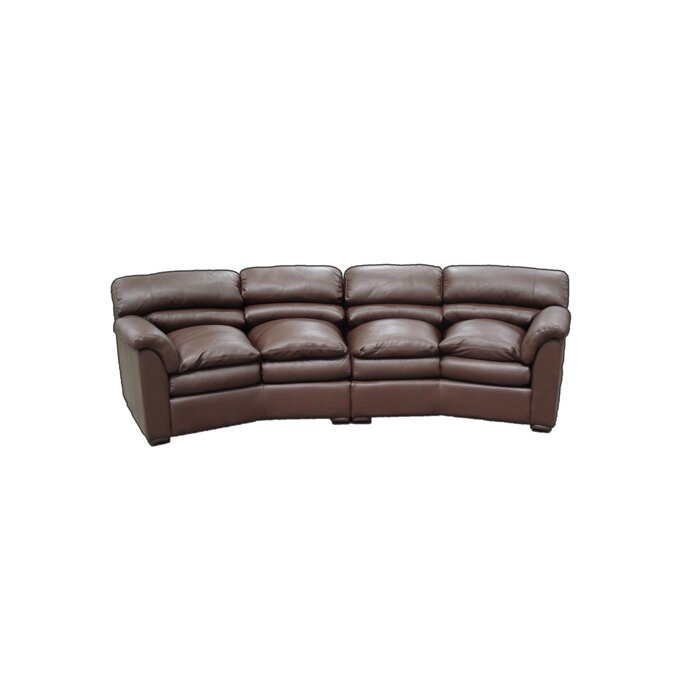 Canyon Leather Curved Sofa
