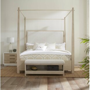 Boca Grande King Upholstered Canopy Bed by Panama Jack Home Today Only Sale