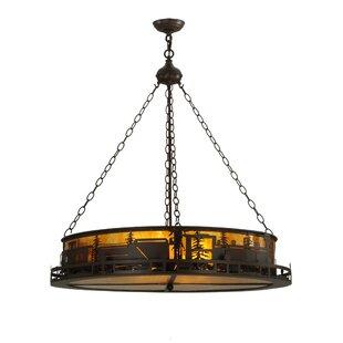Meyda Tiffany Greenbriar Oak 4-Light Drum..