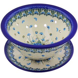 Forget Me Not Colander with Plate