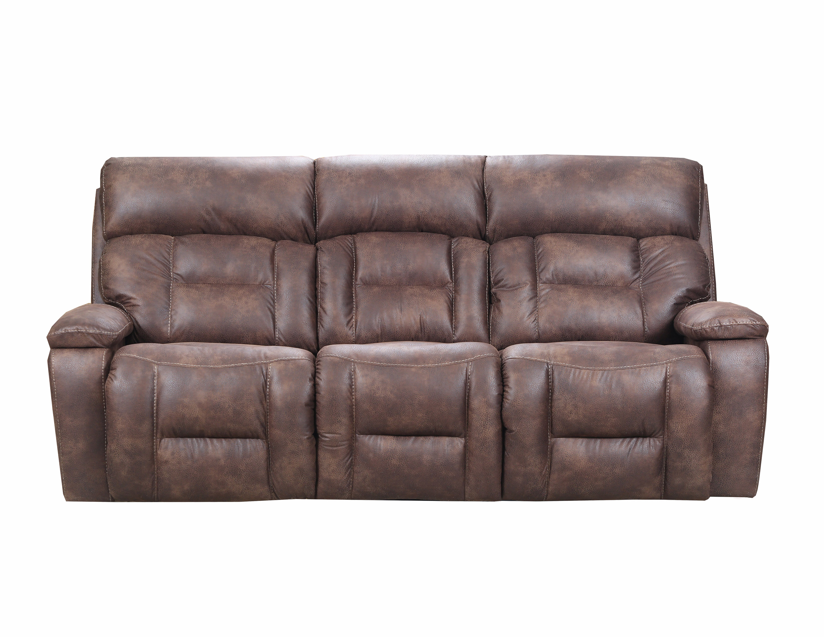 Pictures On Wayfair Bomber Brown Dual Recliner W Console