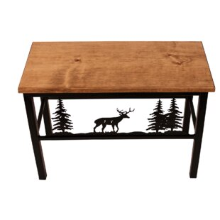 Miriam Deer Scene Wood/Metal Bench