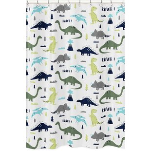 Compare & Buy Mod Dinosaur Shower Curtain By Sweet Jojo Designs