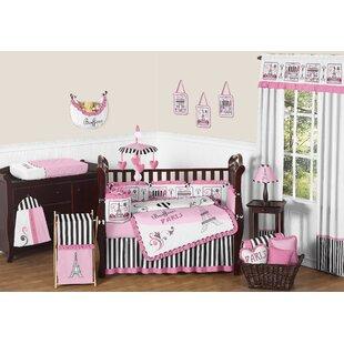 Paris 9 Piece Crib Bedding Set BySweet Jojo Designs