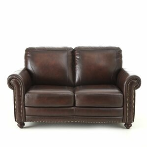 Wilmore Leather Loveseat by Darby Home Co