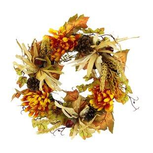 34cm Chrysanthemum Wreath Image