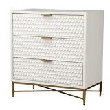 Carpio 3 Drawer Accent Chest by Everly Quinn
